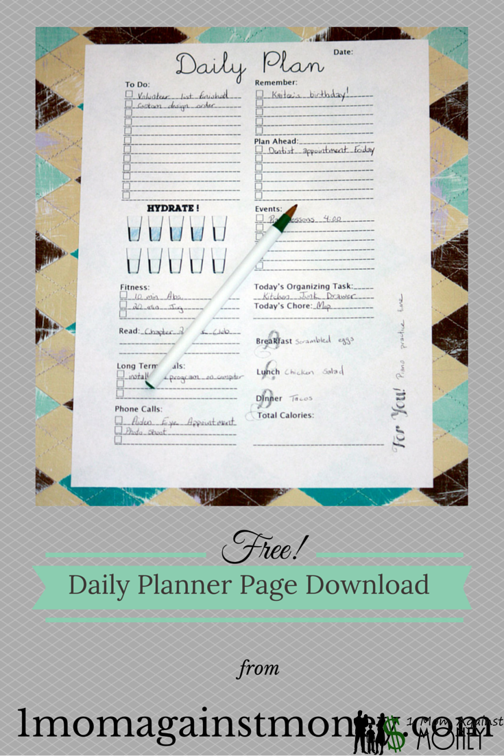 Free Daily Planner Pages!