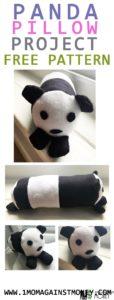 Panda Pillow with Pattern