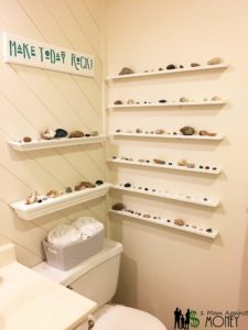 Make Today Rock! Bathroom Update with Rock Collection