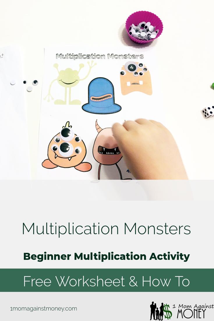 Multiplication Monsters: Beginner Multiplication Activity