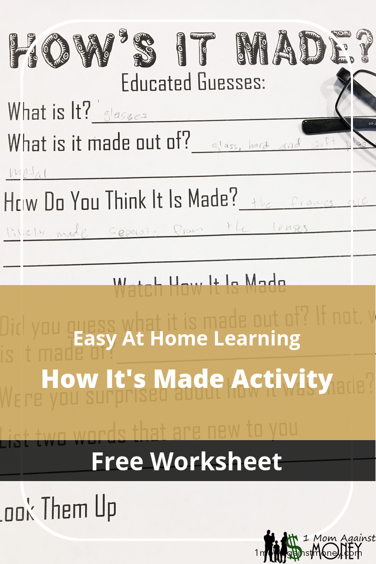 How's It Made? Learning Activity