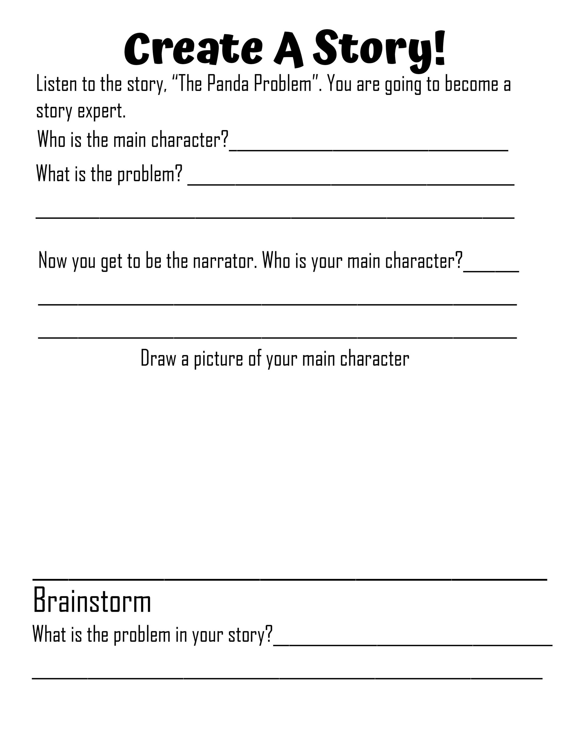Create A Story: Learn the Parts of a Story