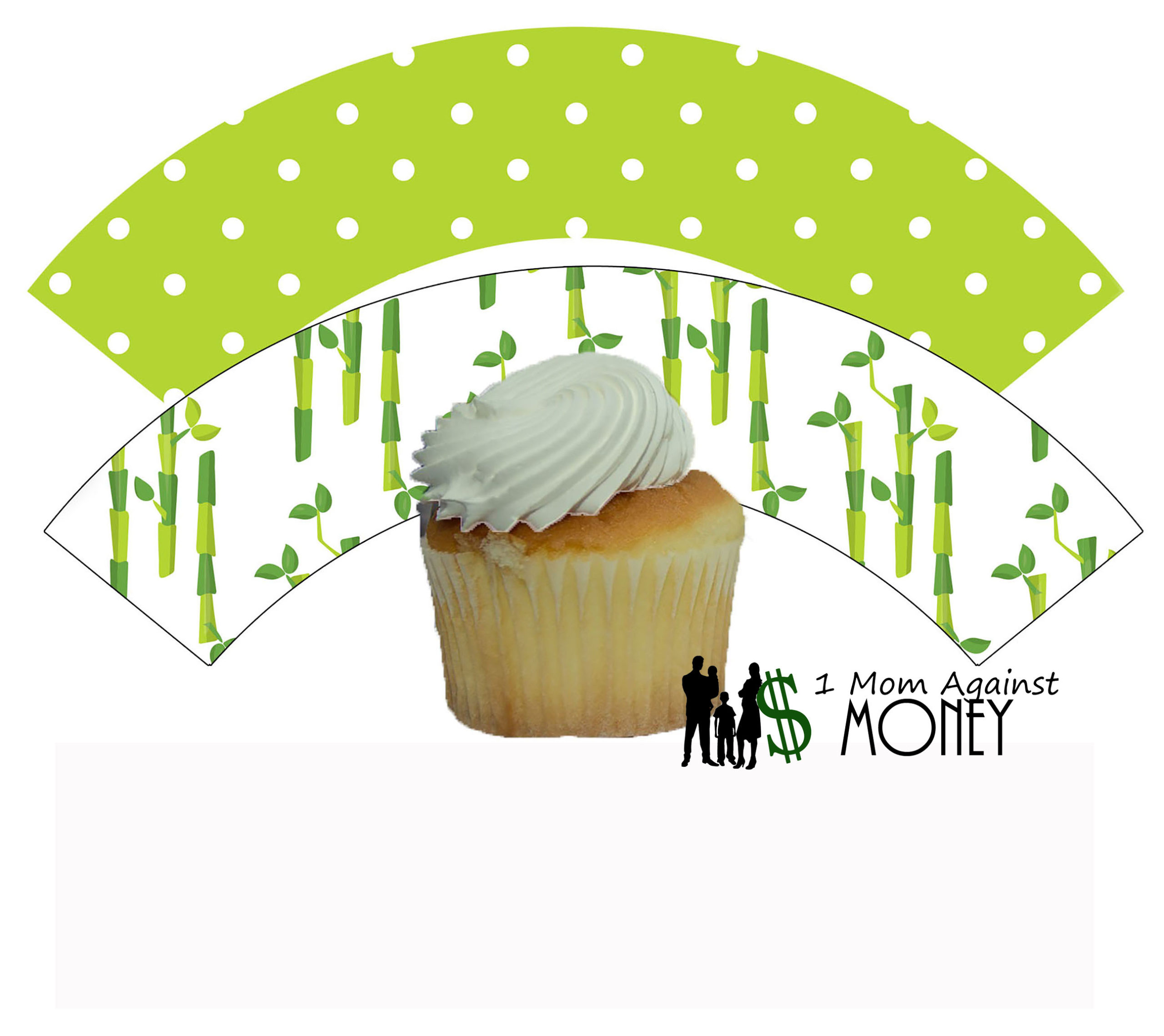 Bamboo Panda Party Cupcake Wrappers FREE!