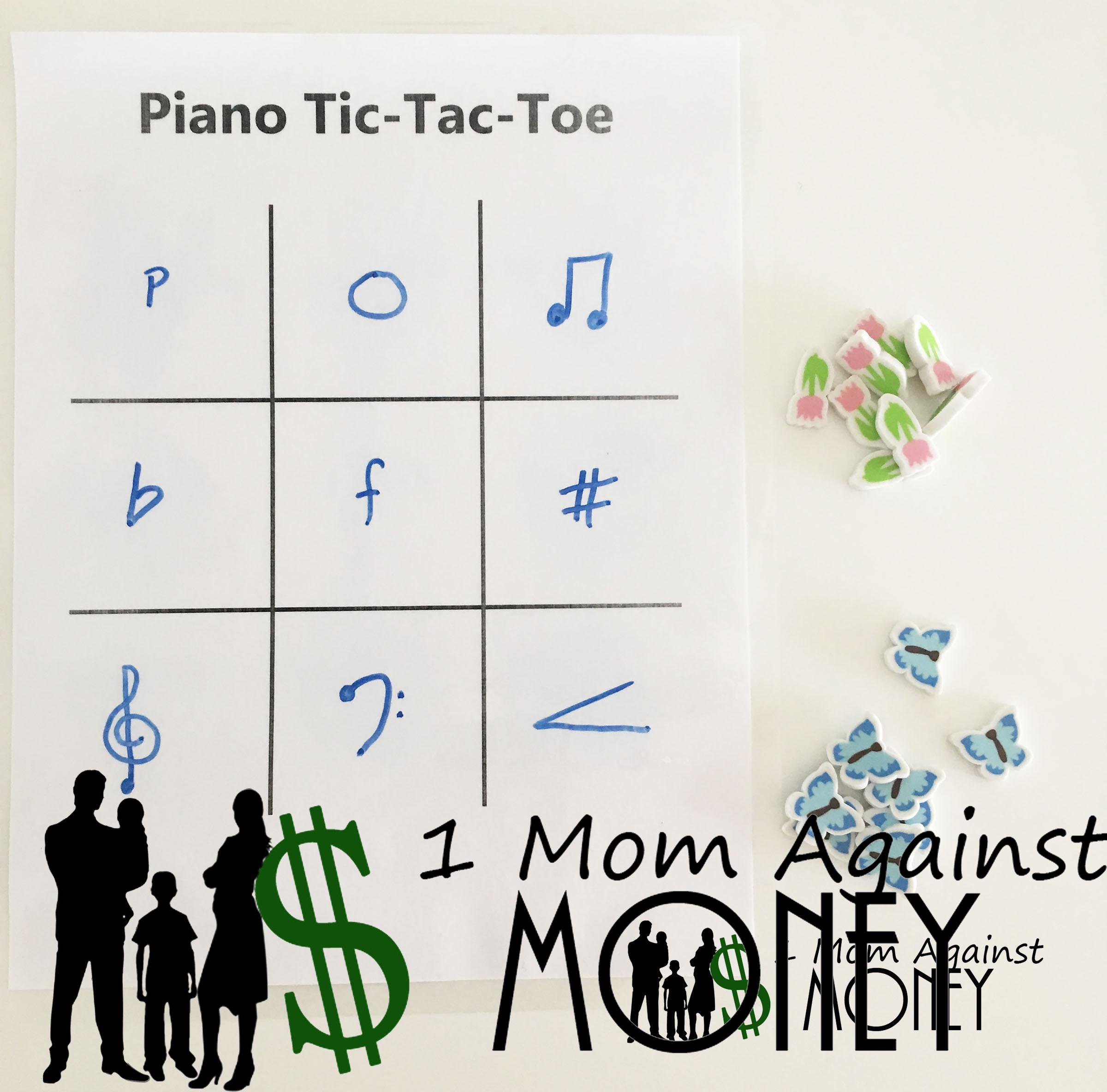 Piano Tic-Tac-Toe Game