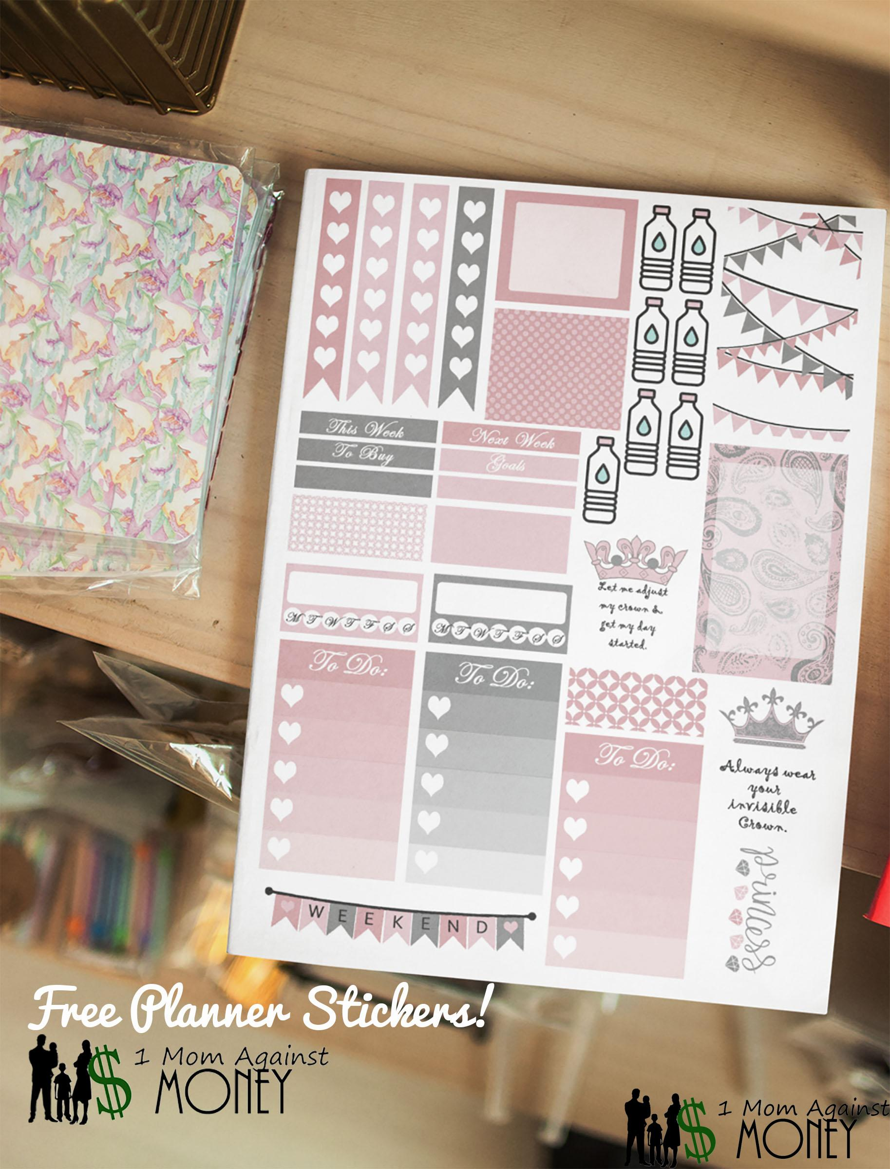 Queen Planner Sticker Sheet Free!