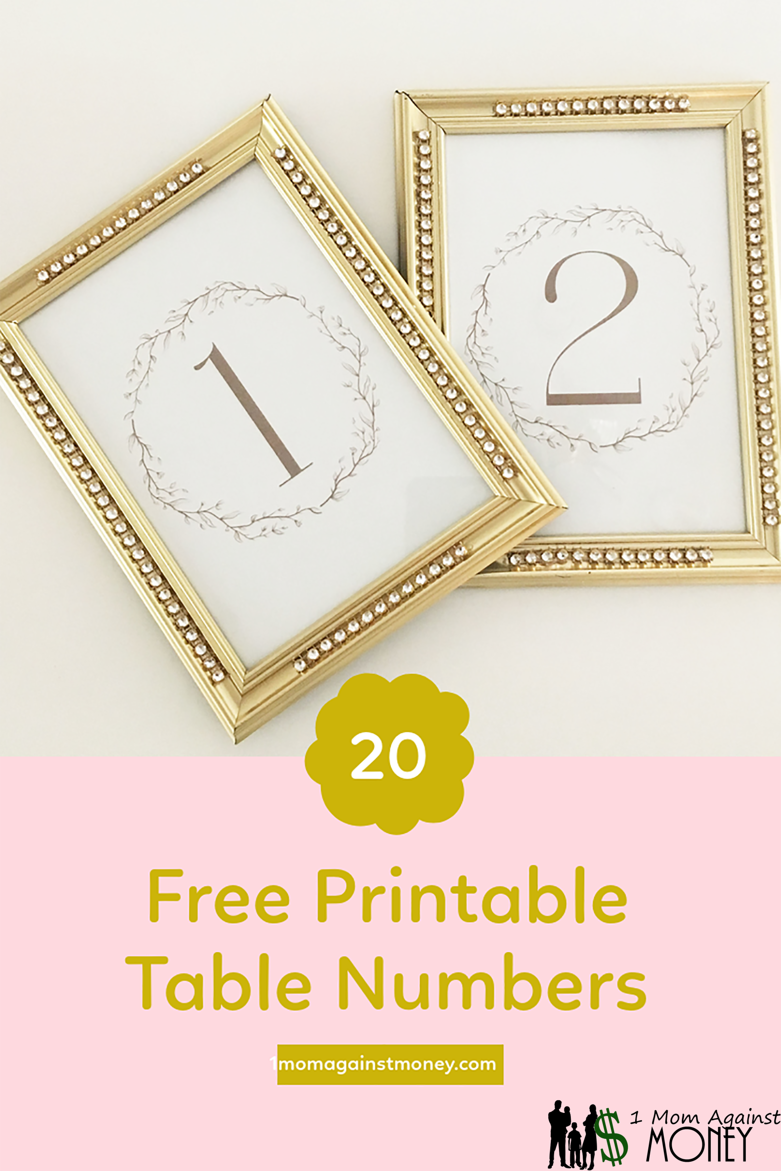 Free Farmhouse Style Table Numbers