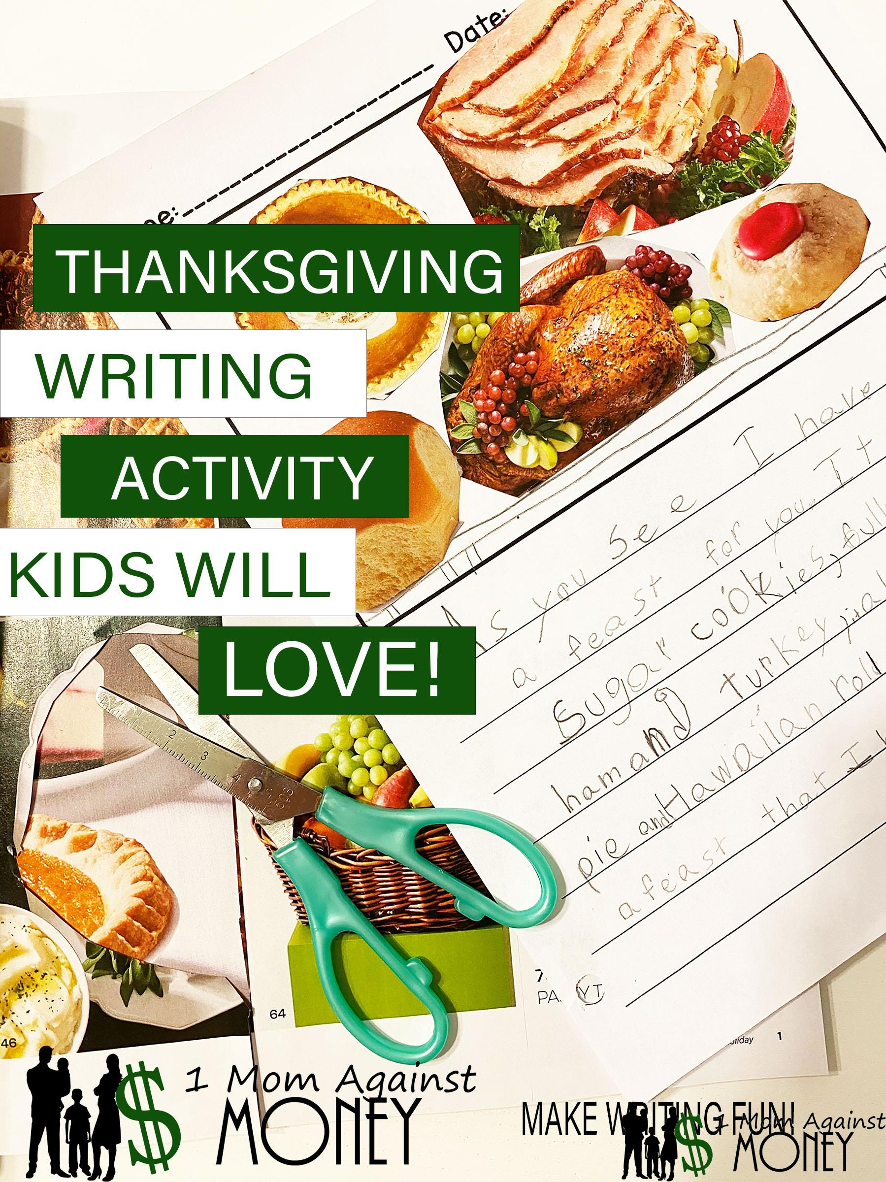 Thanksgiving Writing Prompt Kids Will Beg To Do Again!