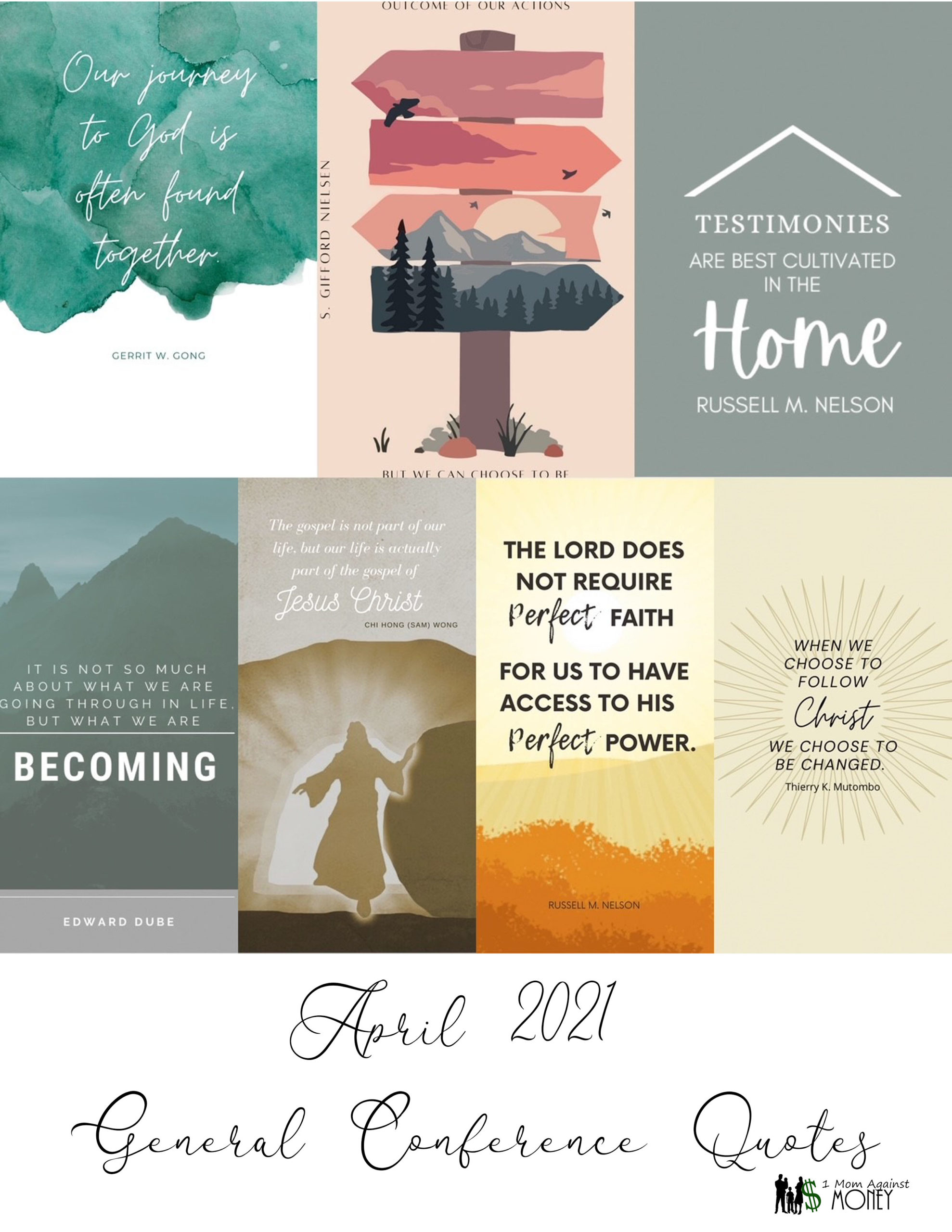 General Conference April 2021 Quote Posters