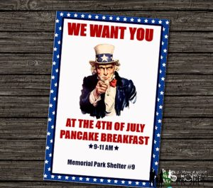Fourth of July Party Free Editable Invitation!
